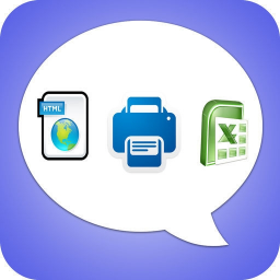 Export Messages - Save Print Backup Recover SMS Icon