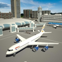 Flight Simulator Airplane 3D Icon