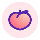 Peach — share vividly Icon